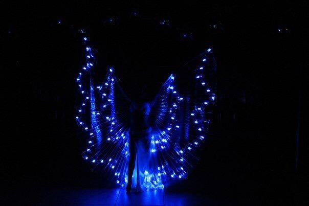 Светодиодные крылья для танца живота