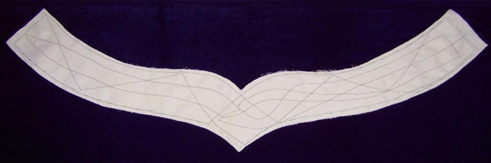 Стачивание основы с облицовочной тканью (бархат)